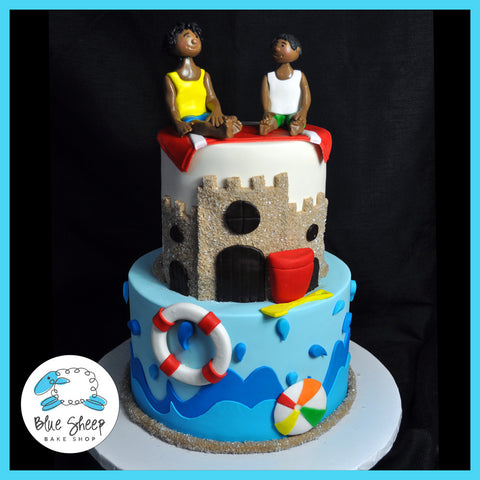 Diego & Javi's Beach Birthday Cake