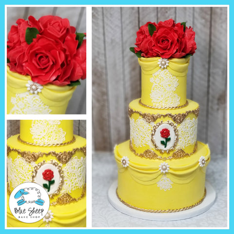 Belle Beauty and the Beast Cake - Custom Cakes by Blue Sheep