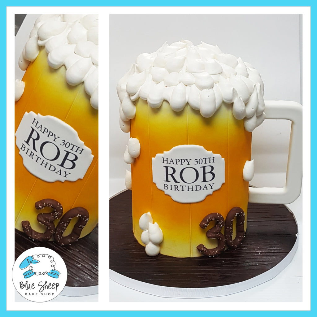 Beer Mug Birthday Cake - NJ Custom Cakes