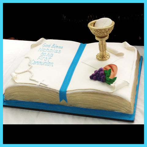 bible cake for 1st first holy communion