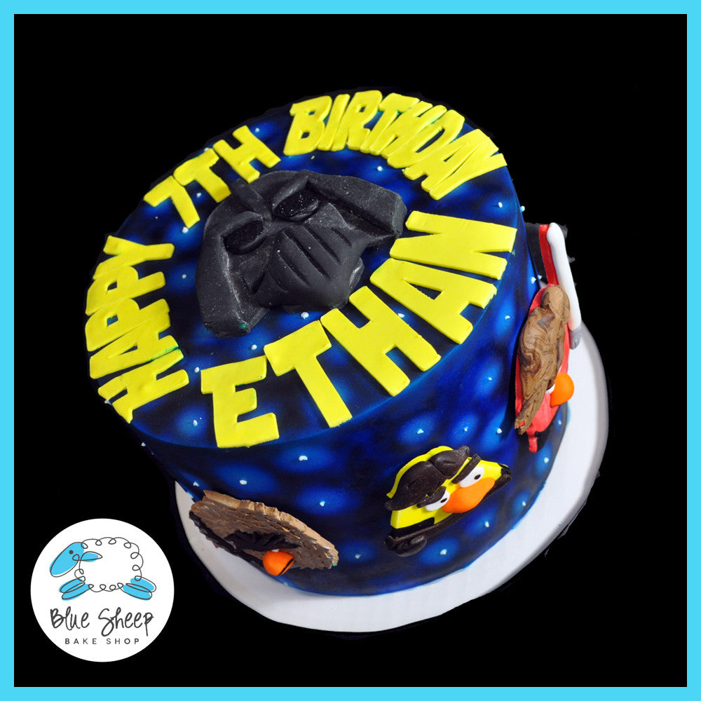 Magnificent Ethans Angry Birds Star Wars Birthday Cake Blue Sheep Bake Shop Birthday Cards Printable Riciscafe Filternl