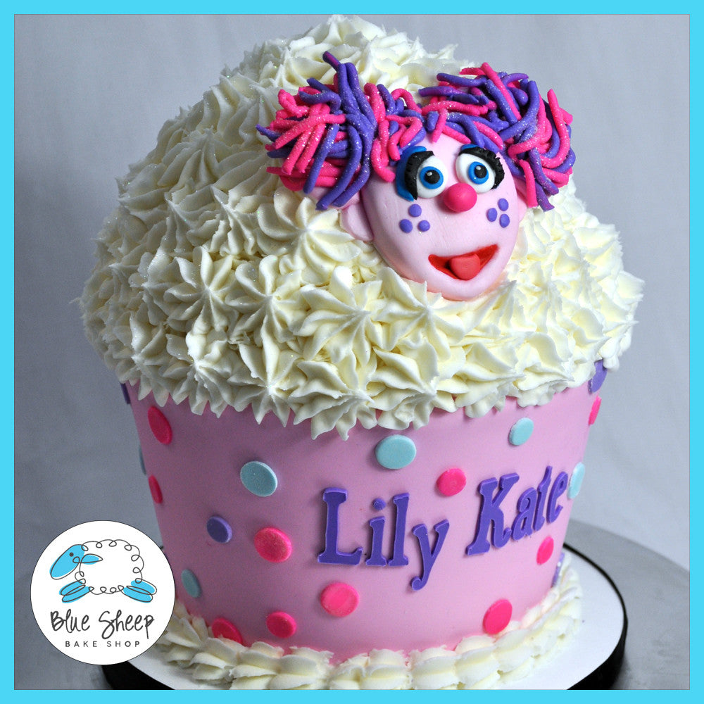 Incredible Abby Cadabby Giant Cupcake Birthday Cake Blue Sheep Bake Shop Birthday Cards Printable Nowaargucafe Filternl