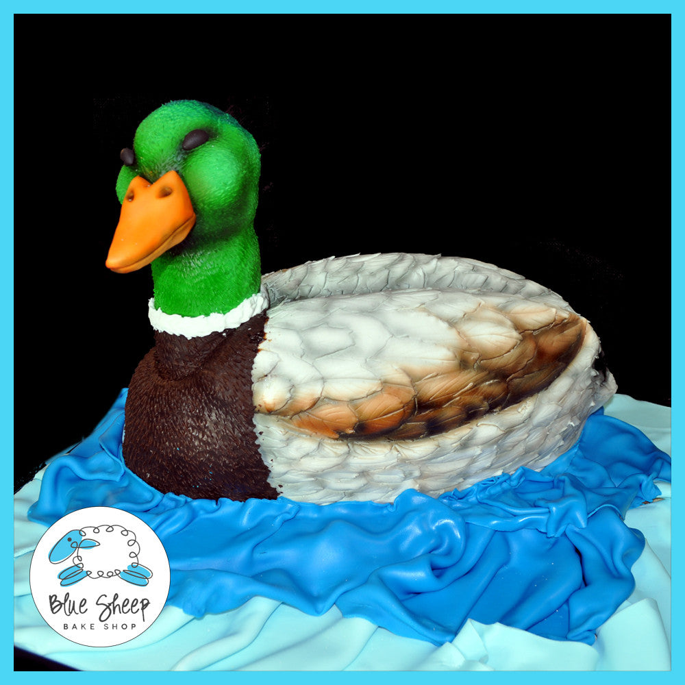 Strange Duck Dynasty Sculpted Birthday Cake Blue Sheep Bake Shop Funny Birthday Cards Online Alyptdamsfinfo