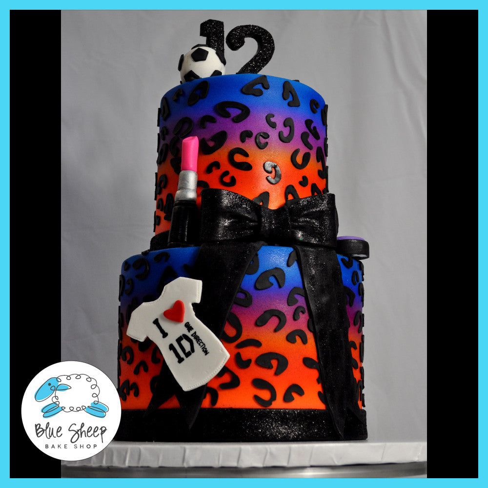 Incredible Leopard Birthday Cake Blue Sheep Bake Shop Personalised Birthday Cards Paralily Jamesorg
