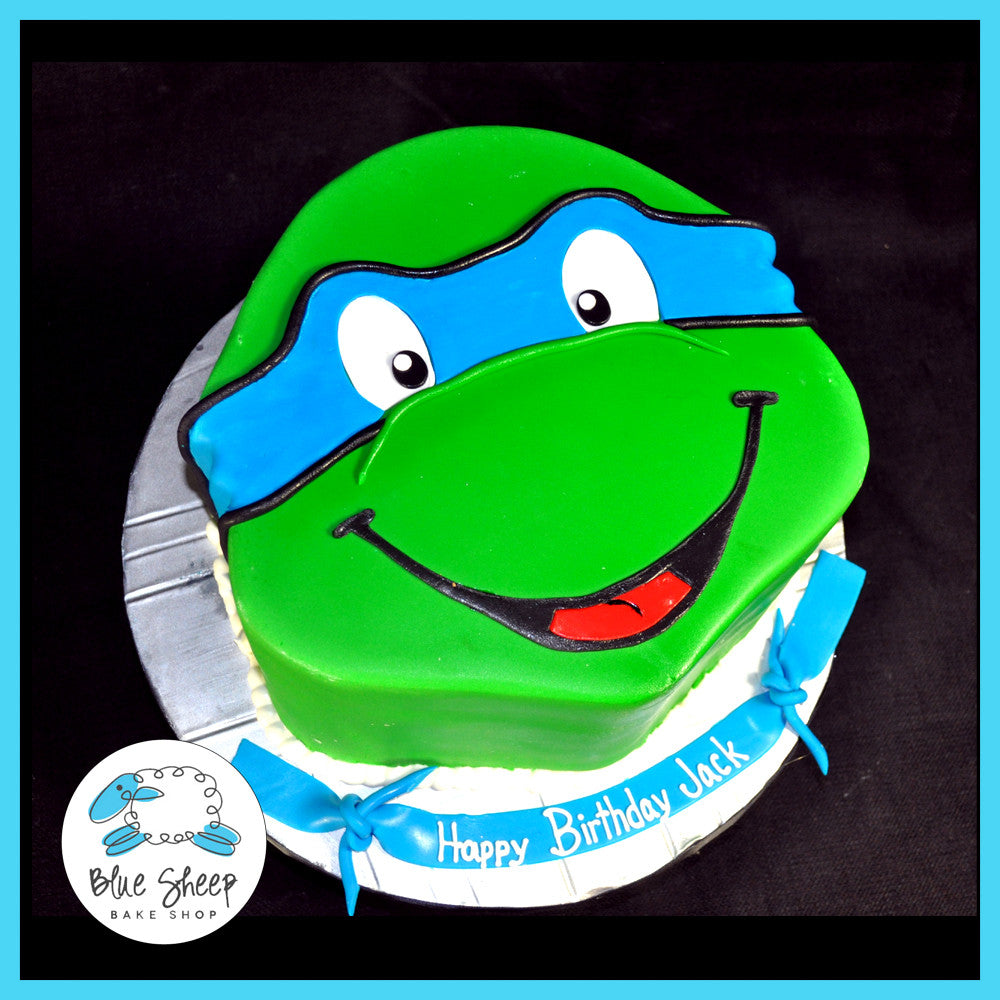 Incredible Ninja Turtle Birthday Cake Blue Sheep Bake Shop Funny Birthday Cards Online Fluifree Goldxyz