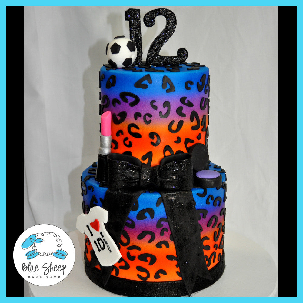 cheetah leopard birthday cake nj