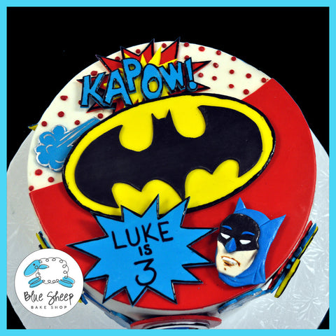 superhero birthday cake