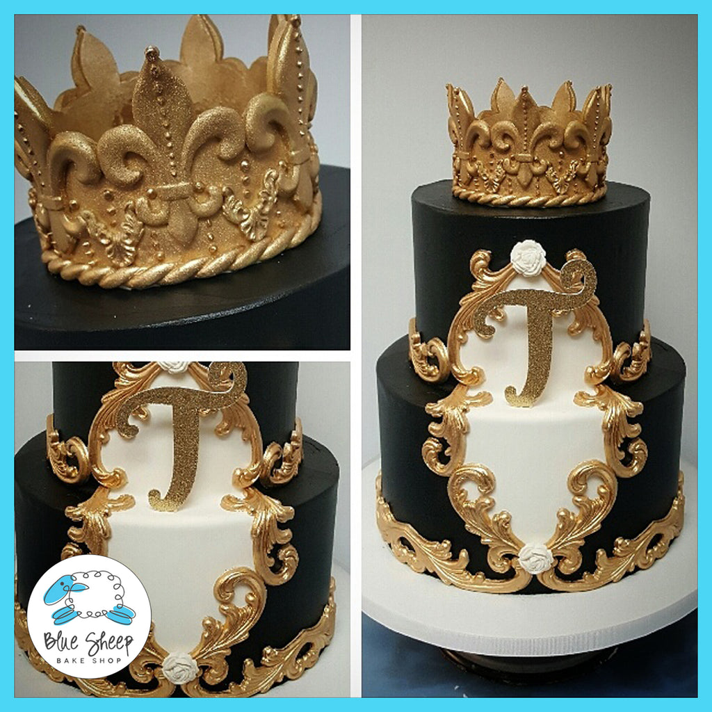king cake custom cakes nj black and gold
