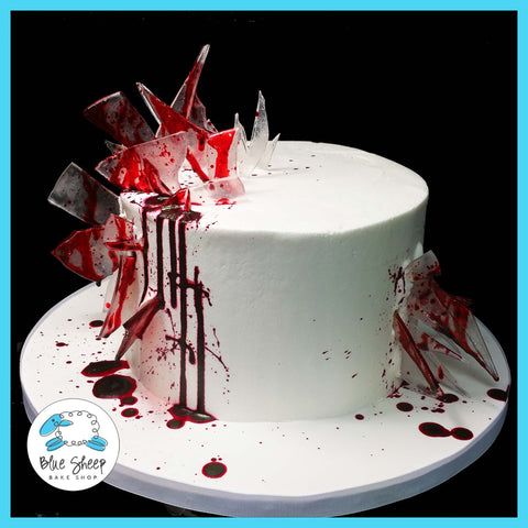 Bloody Glass Birthday Cake
