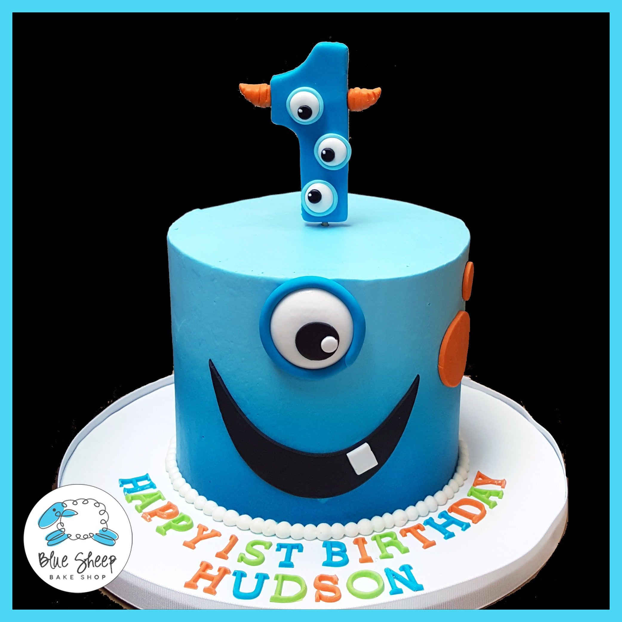 Swell Hudsons 1St Birthday Monster Smash Cake Nj Blue Sheep Bake Shop Funny Birthday Cards Online Elaedamsfinfo
