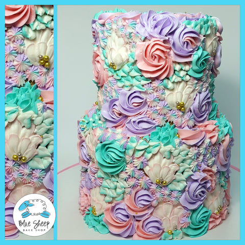 buttercream floral cake nj