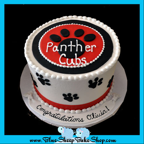 bridgewater school custom cake panther cubs