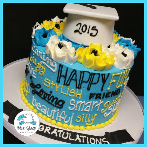 buttercream graduation cake somerville nj