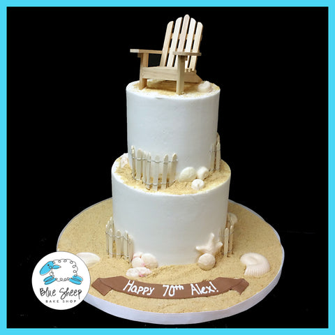 buttercream beach birthday cake nj