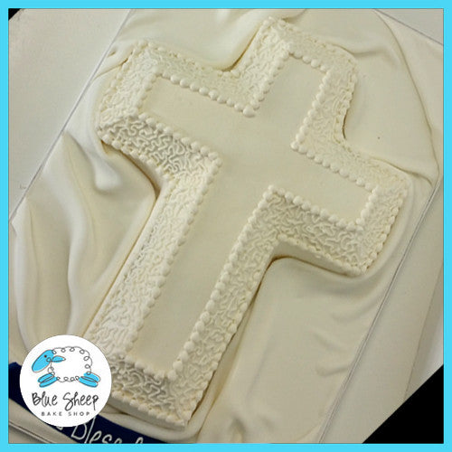 buttercream cross communion cake nj