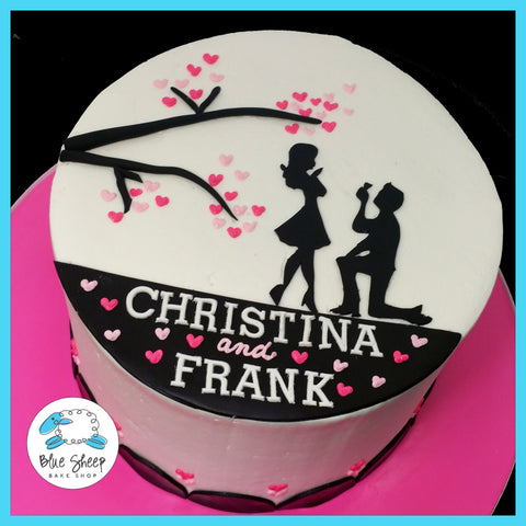 Christina & Frank's Engagement Cake