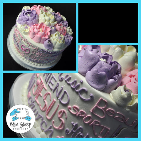 Copy of Buttercream Floral Expressions Birthday Cake
