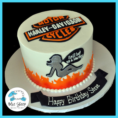 Buttercream Harley Davidson Birthday Cake