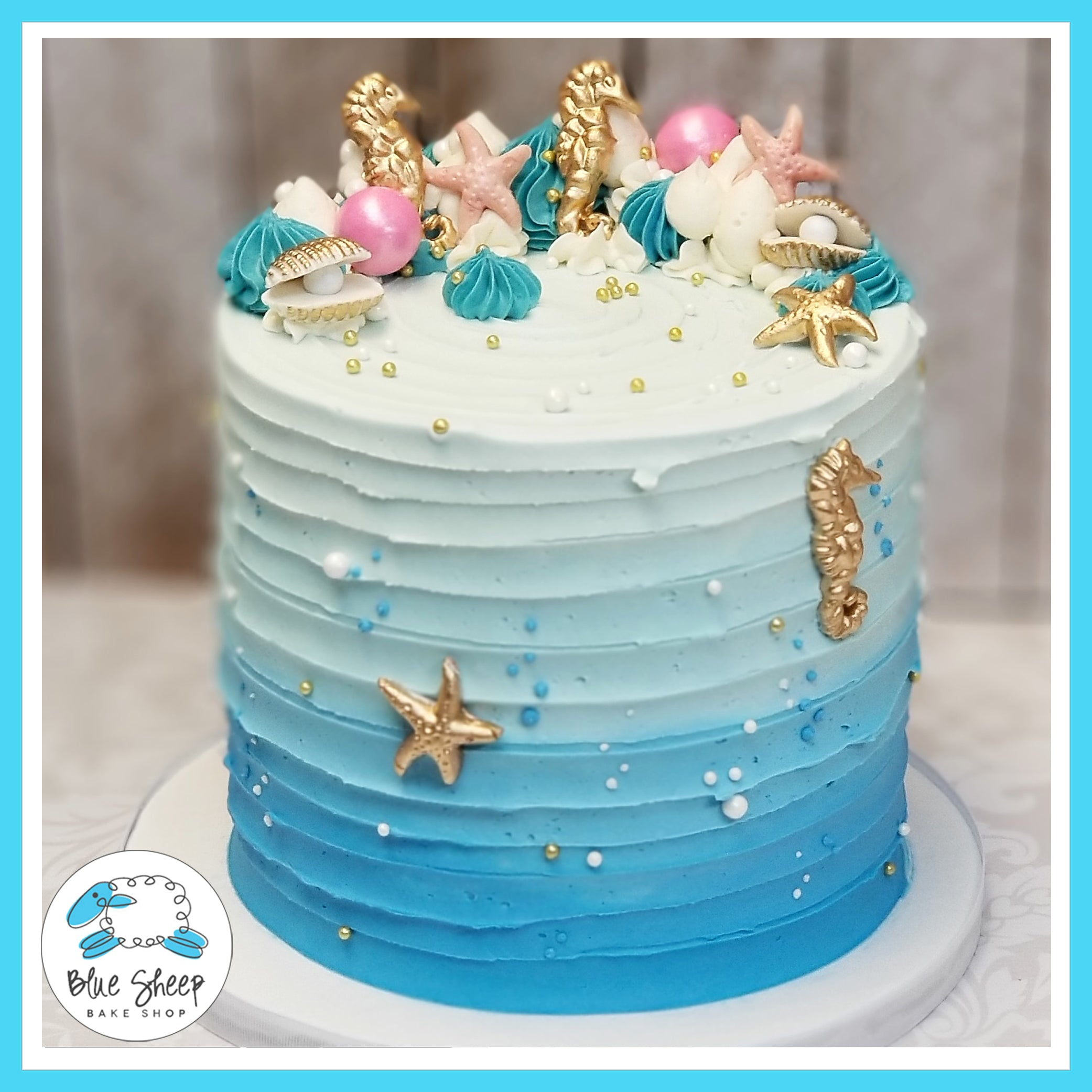 Wondrous Under The Sea Birthday Cake Nj Blue Sheep Bake Shop Funny Birthday Cards Online Elaedamsfinfo