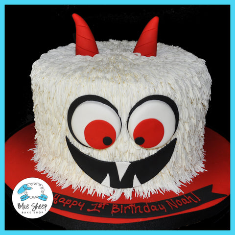 butter cream monster birthday cake nj