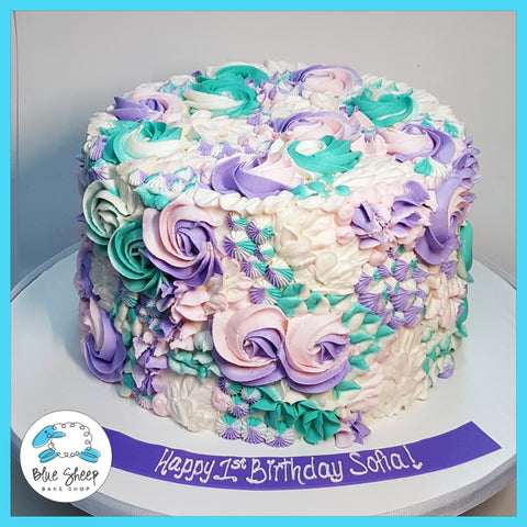 buttercream textures birthday cake nj