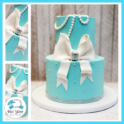 Tiffany Buttercream Baby Shower Cake NJ