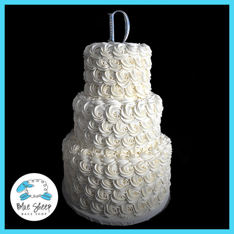 Buttercream Wedding Cake With Rosettes