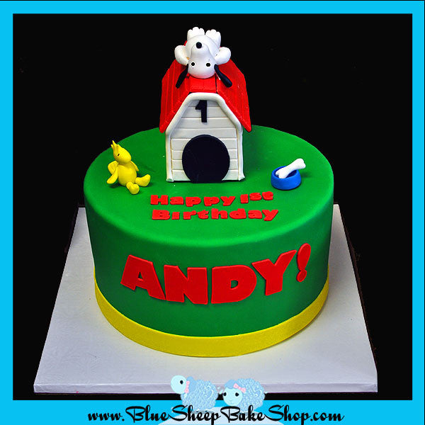 Custom Specialty Cakes And Cupcakes Nj Snoopy Birthday Cake Blue