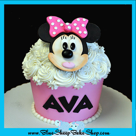 Minnie Mouse Giant Cupcake Birthday Cake