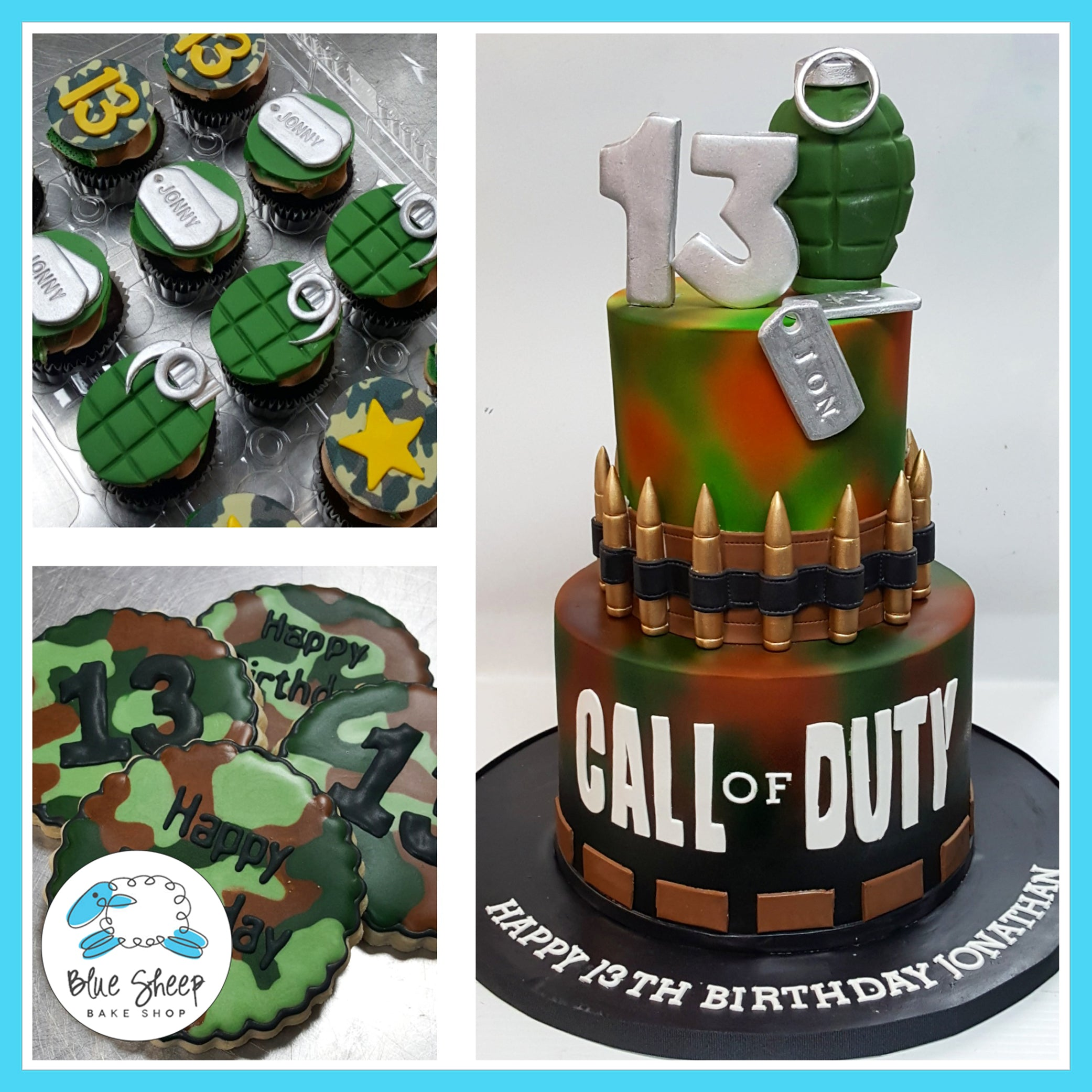 Terrific Call Of Duty Video Game Cake Nj Custom Cakes Blue Sheep Bake Shop Funny Birthday Cards Online Inifofree Goldxyz