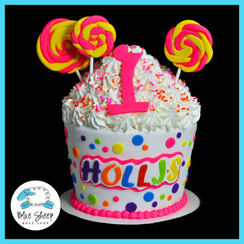 Candyland Giant Birthday Cupcake