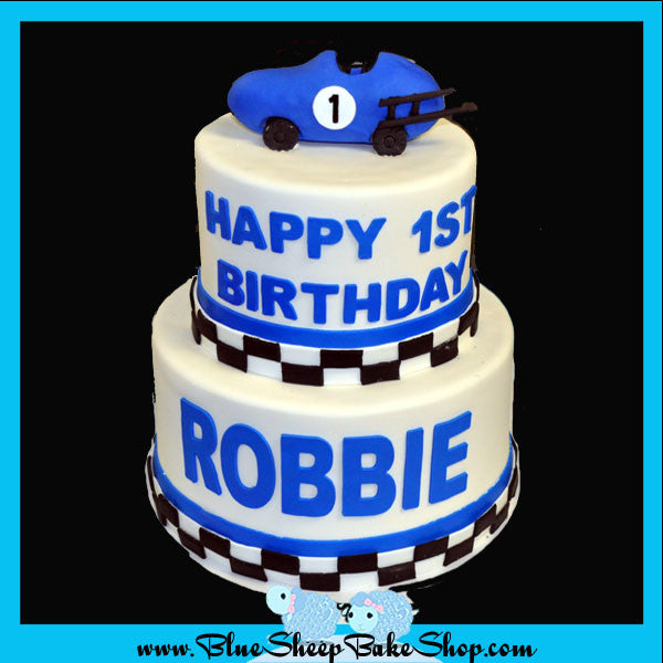 Phenomenal Custom Birthday Cake Race Car 1St Birthday Specialty Cake Nj Funny Birthday Cards Online Elaedamsfinfo