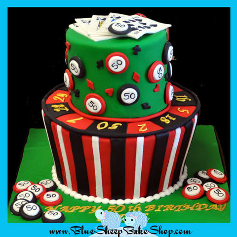 Tiered Casino Birthday Cake