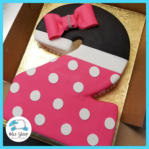 number 2 #2 minnie mouse inspired birthday cake nj cakes