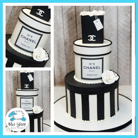Chanel Inspired Birthday Cake - Custom Cakes NJ