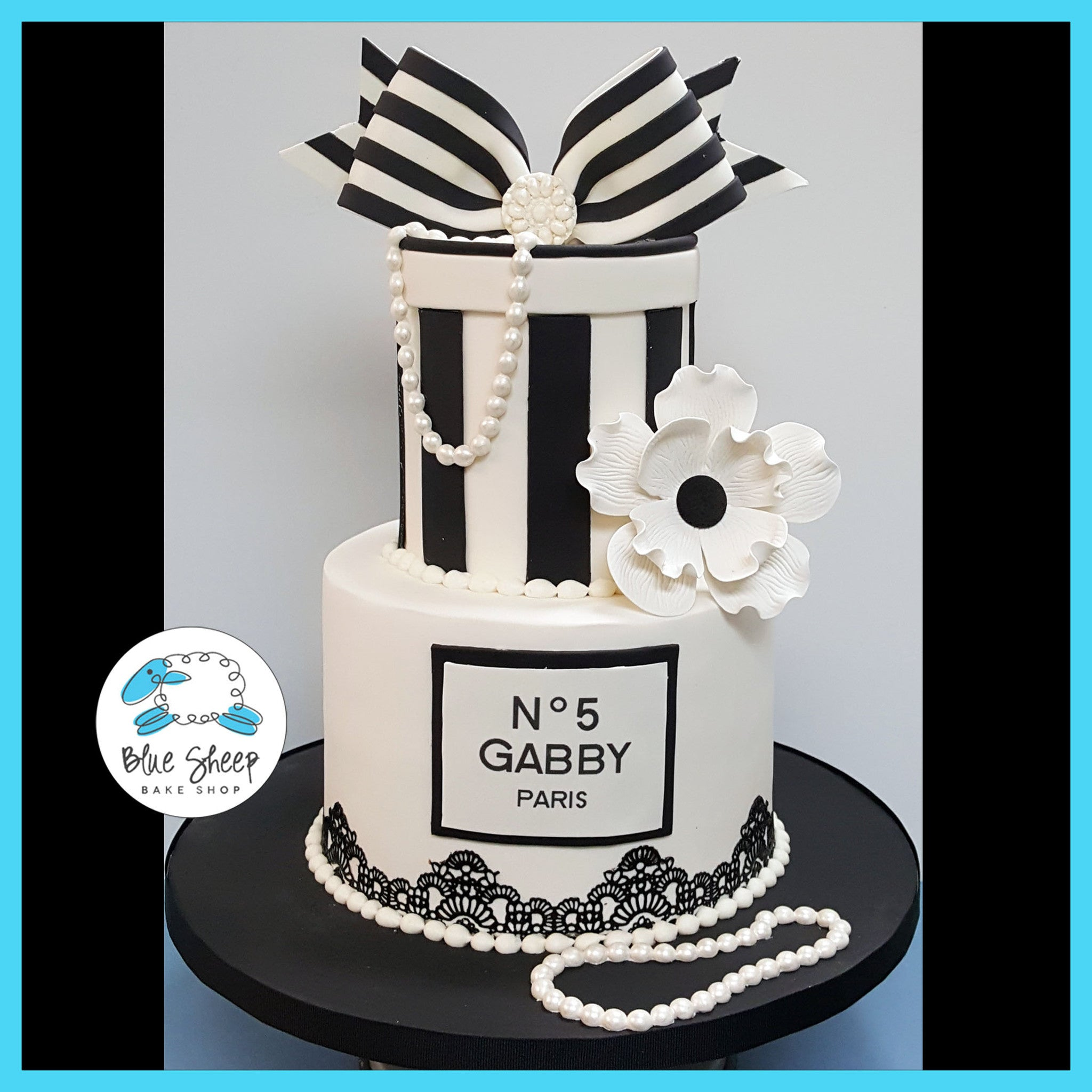 Chanel No 5 Birthday Cake Blue Sheep Bake Shop