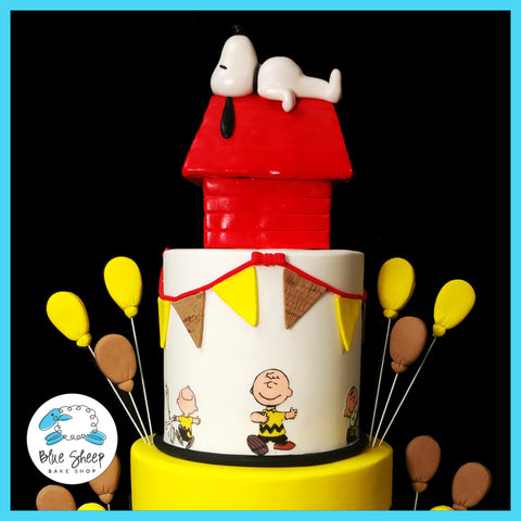 Charlie Brown and Snoopy 1st Birthday Cake NJ | Blue Sheep Bake Shop