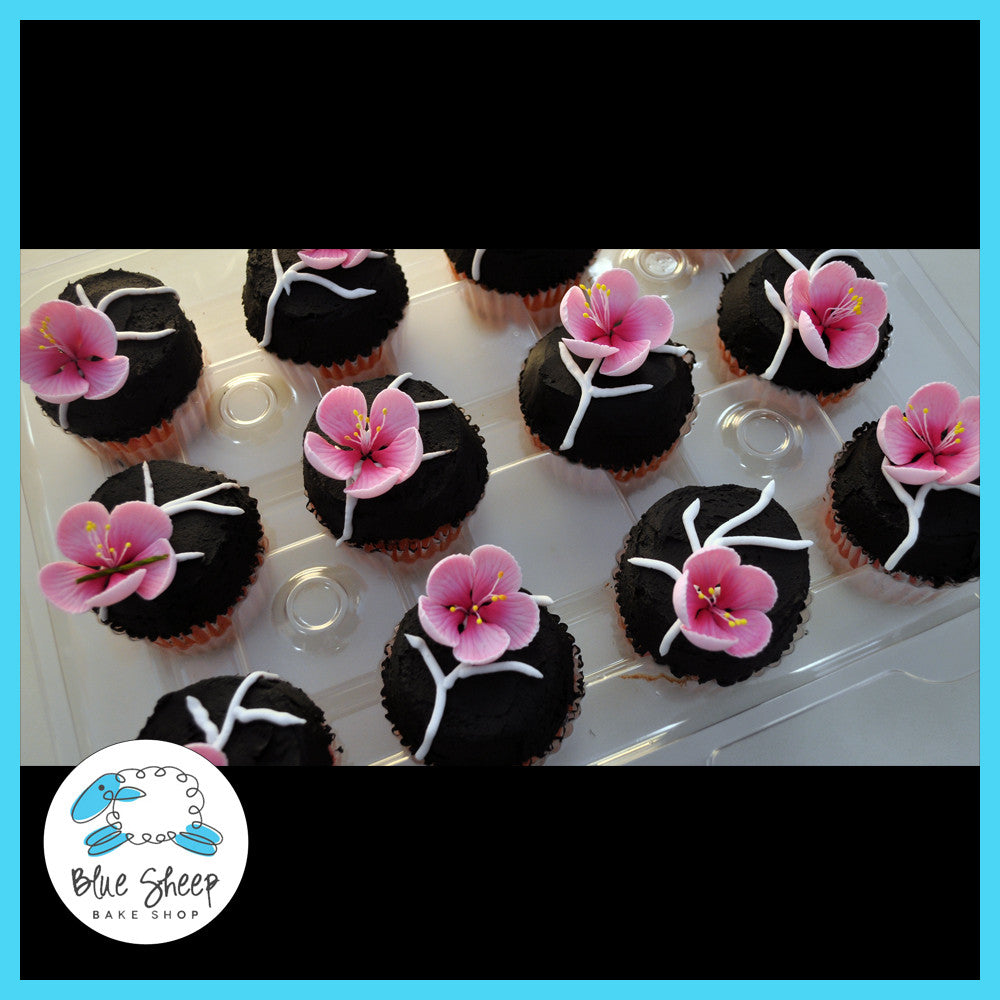 cherry blossom sugar flower cupcakes for a sweet 16