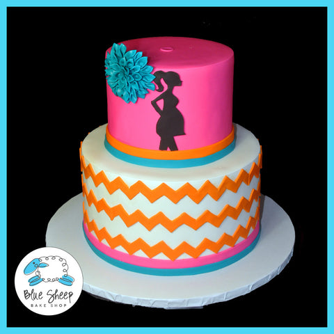 chevron baby shower cake nj
