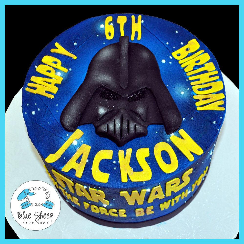 Stupendous Star Wars Birthday Cake Blue Sheep Bake Shop Birthday Cards Printable Riciscafe Filternl
