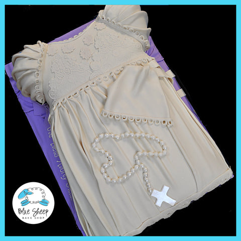 christening dress cake nj