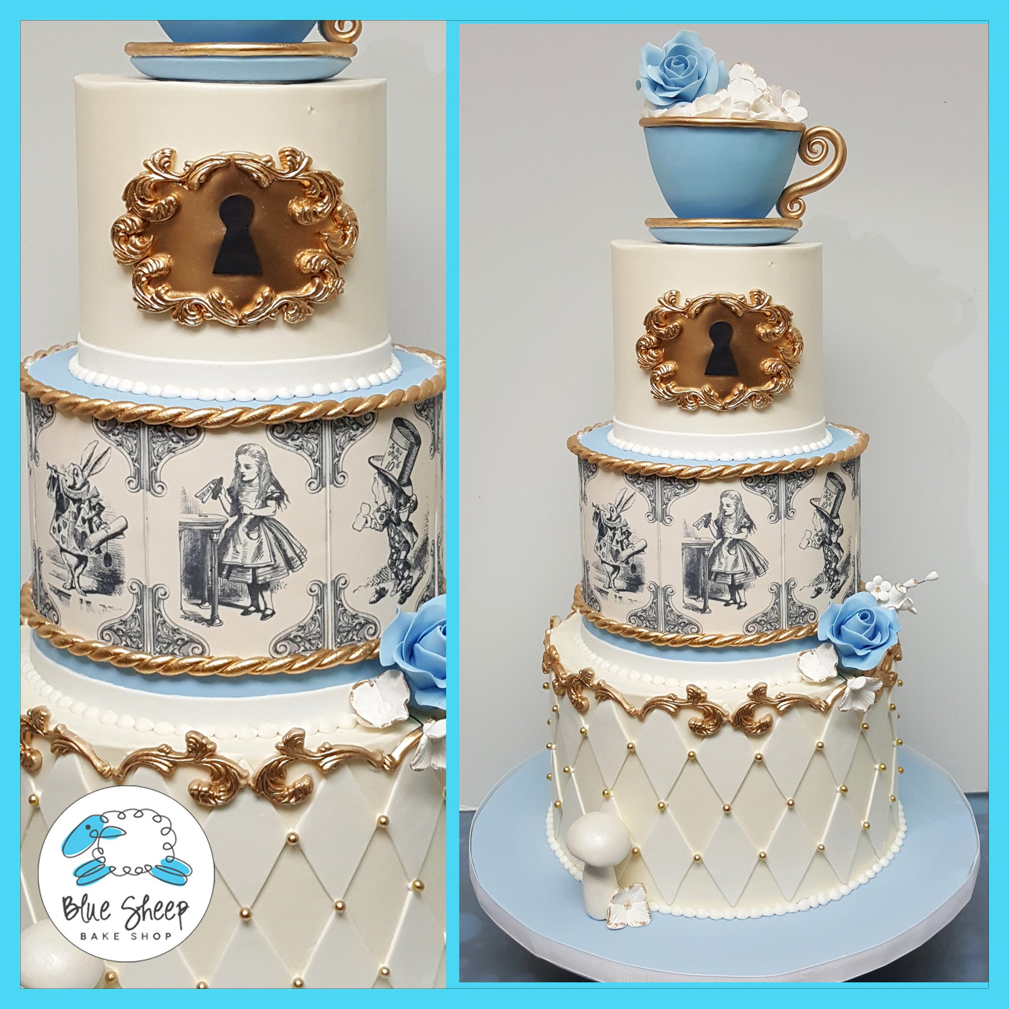 Alice In Wonderland Birthday Cake Nj Blue Sheep Bake Shop