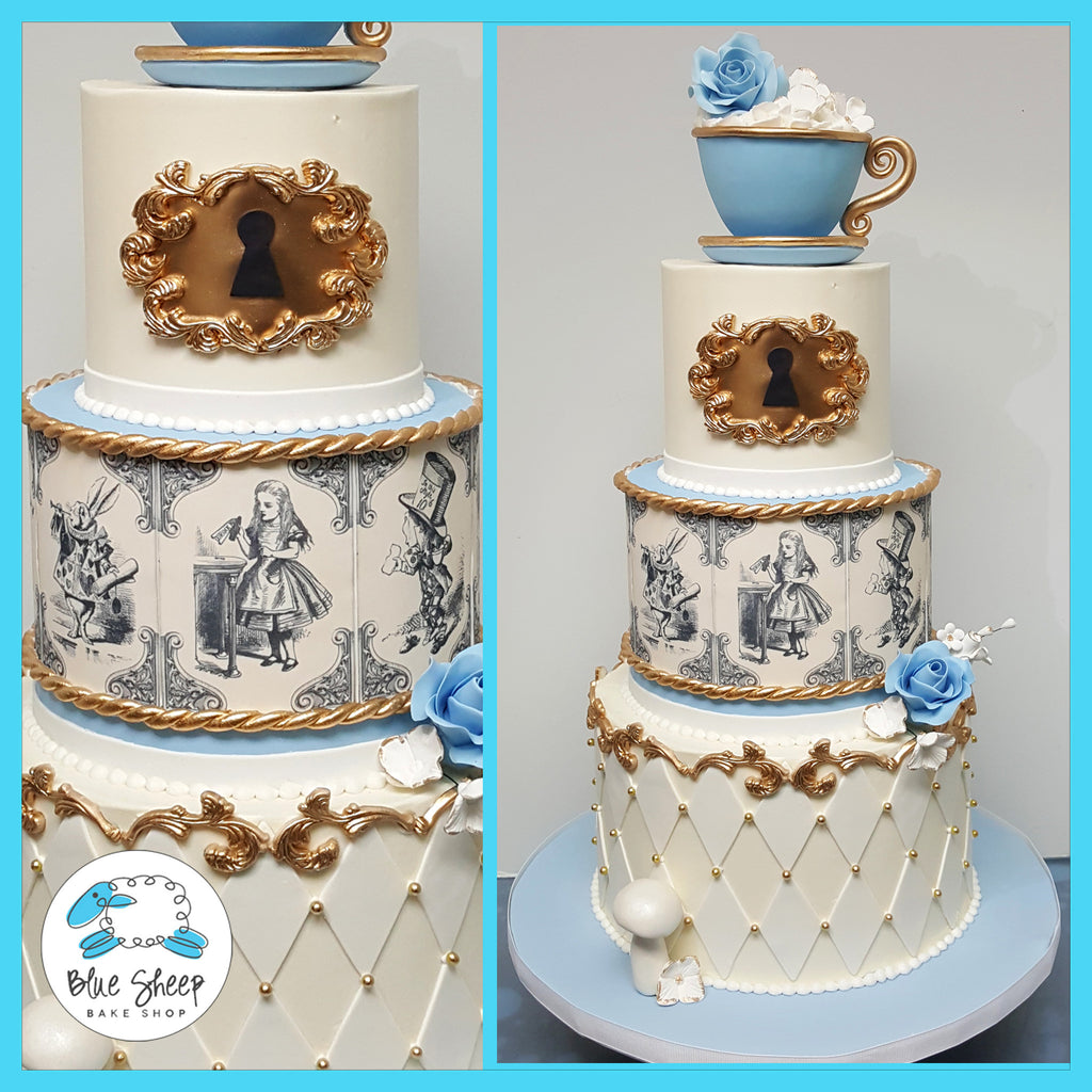 classic alice in wonderland birthday cake nj