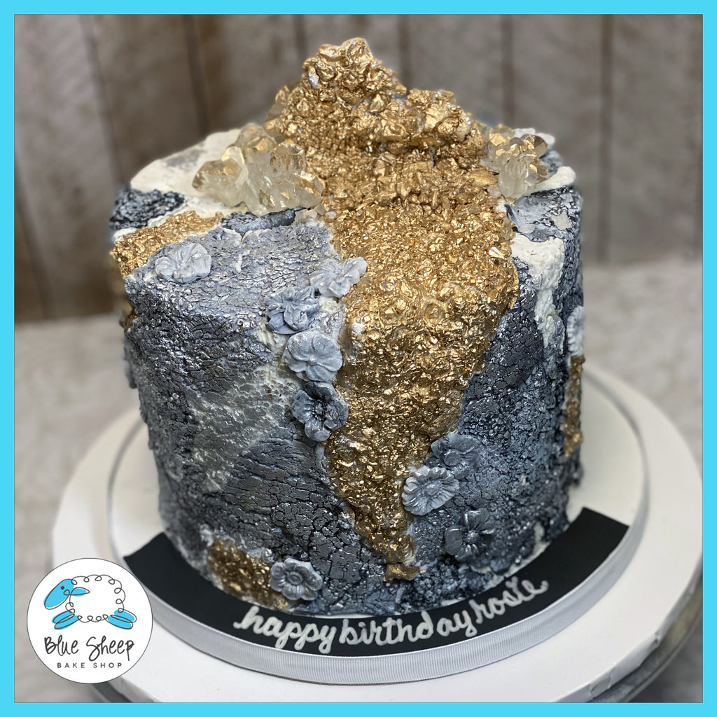 concrete textures stone birthday cake custom cakes nj