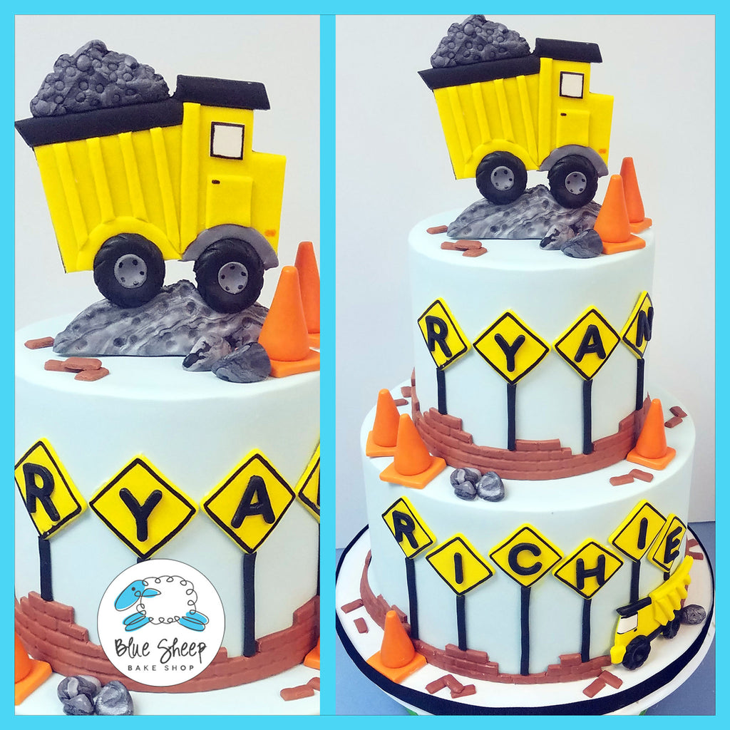 construction 1st birthday cake fondant nj