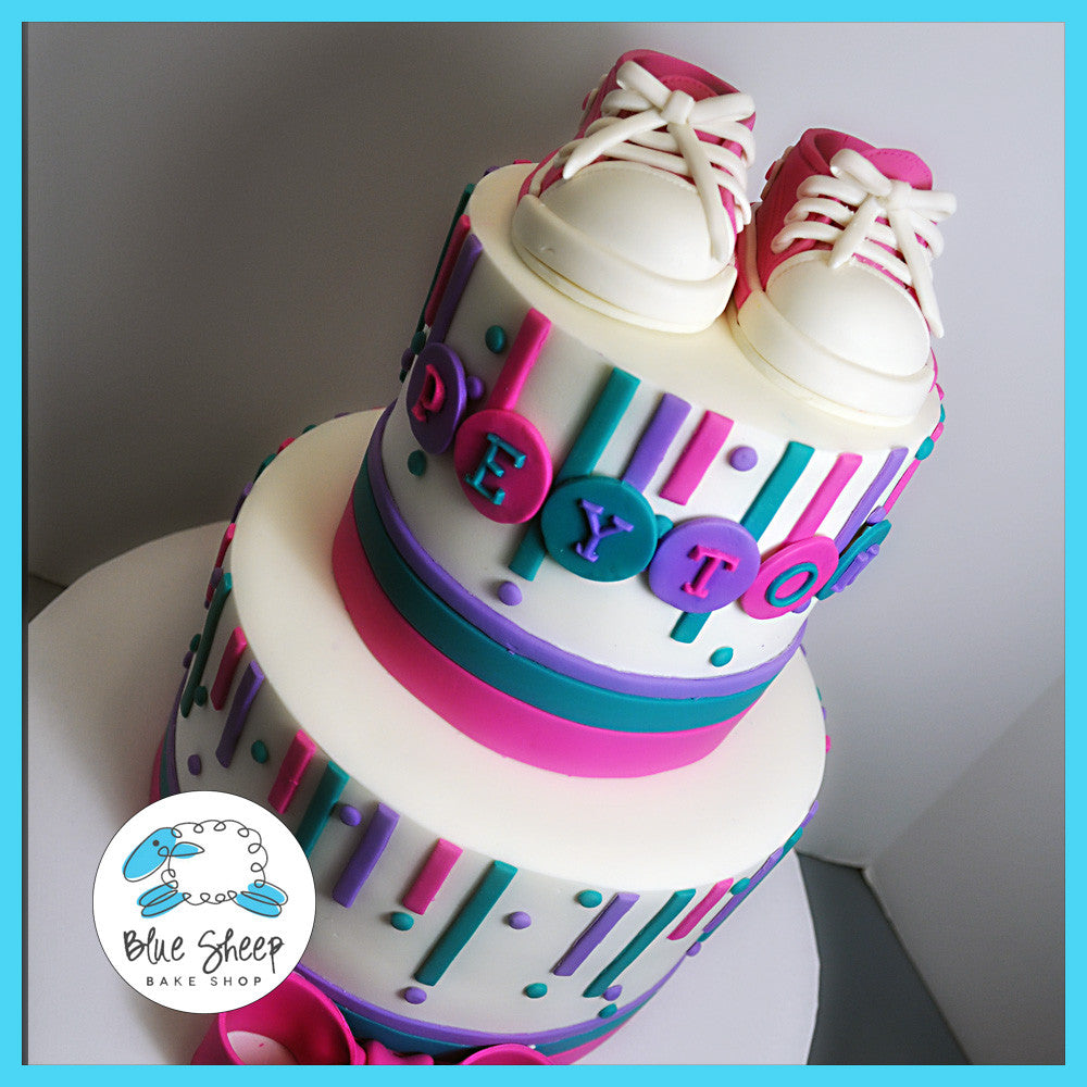 c5826e77a023 Converse Sneakers Baby Shower Cake
