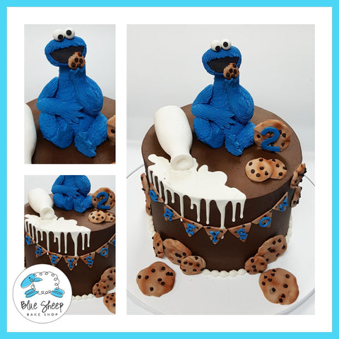 cookie monster spilled milk birthday cake nj