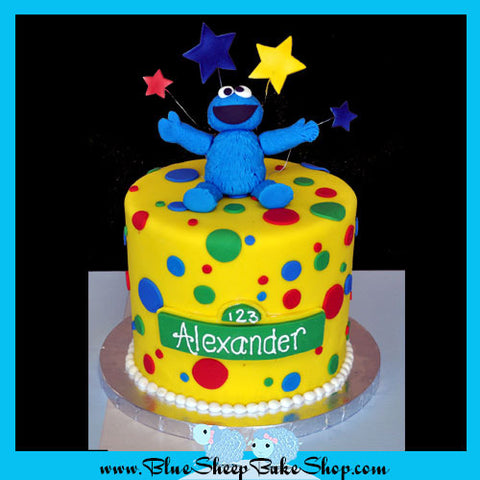 Cookie Monster Cupcake Topper