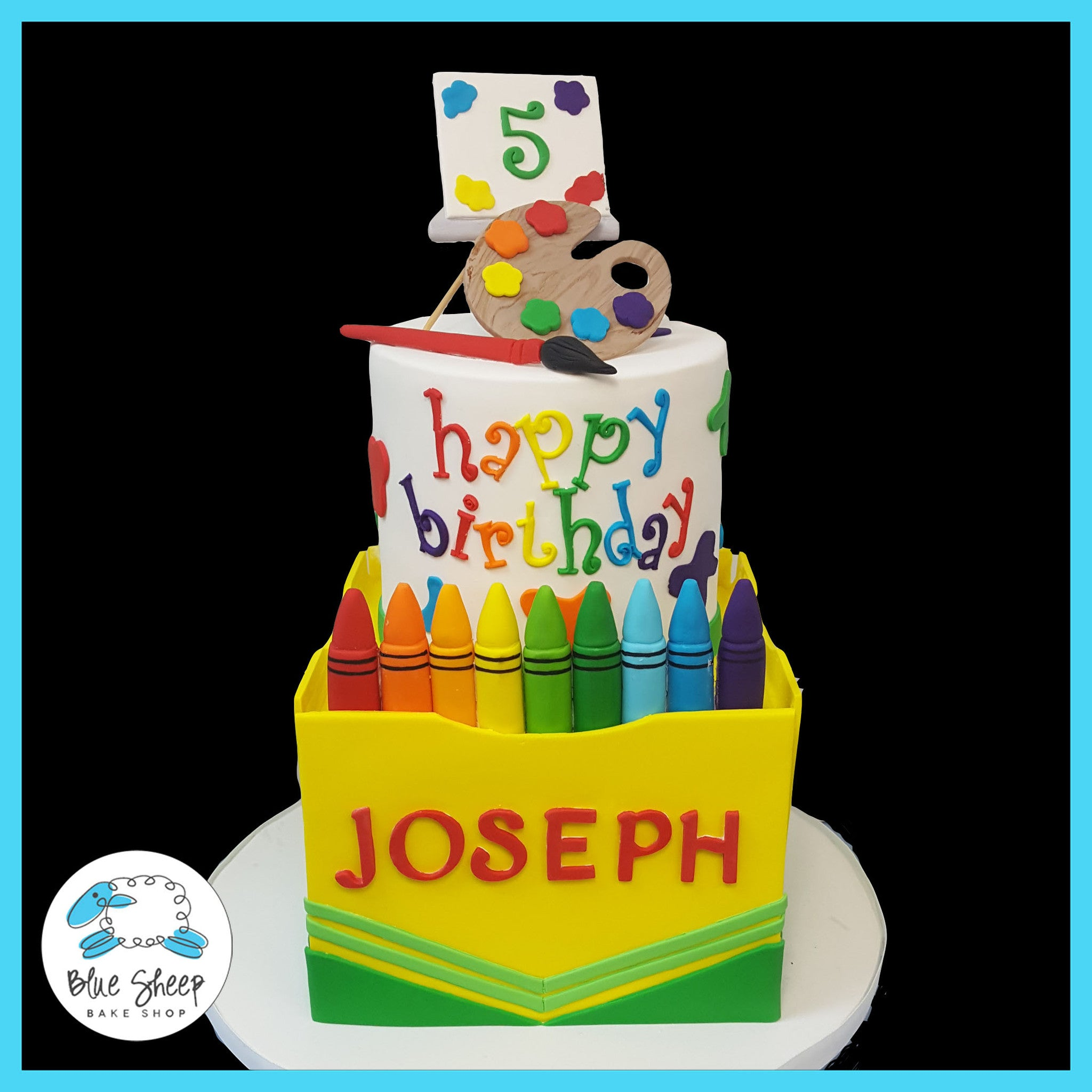 Crayon Birthday Cake NJ | Blue Sheep Bake Shop
