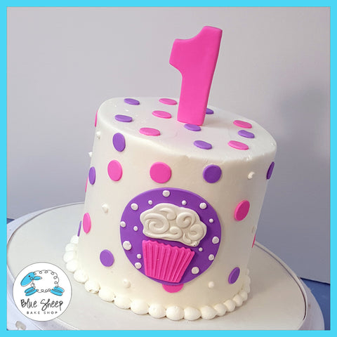 cupcake themed smash cake nj 1st birthday